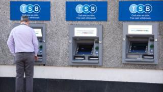 Man at TSB ATMs