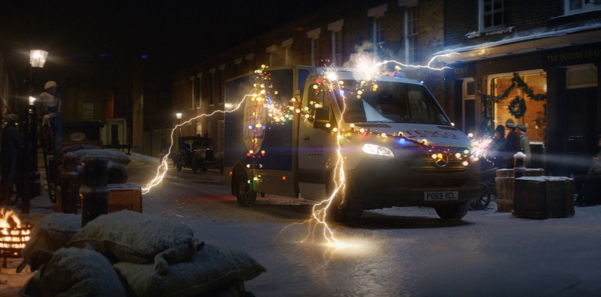 Tesco is taking a trip down memory lane for this year's Christmas advert to celebrate 100 years since it was founded