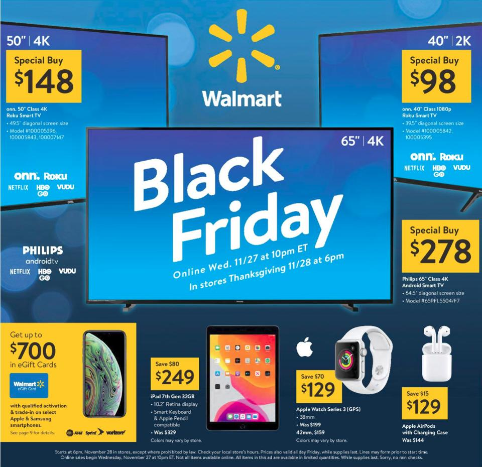 Walmart Black Friday 2019 sales, Walmart Black Friday 2019 deals, Walmart Black Friday 2019 best deals, Walmart Black Friday 2019 iPhones, Walmart Black Friday 2019 TVs