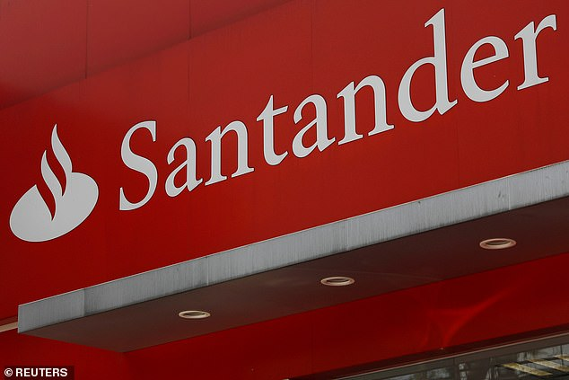 The fraud department at Santander were extremely helpful and explained that sham websites are a common problem (file photo)