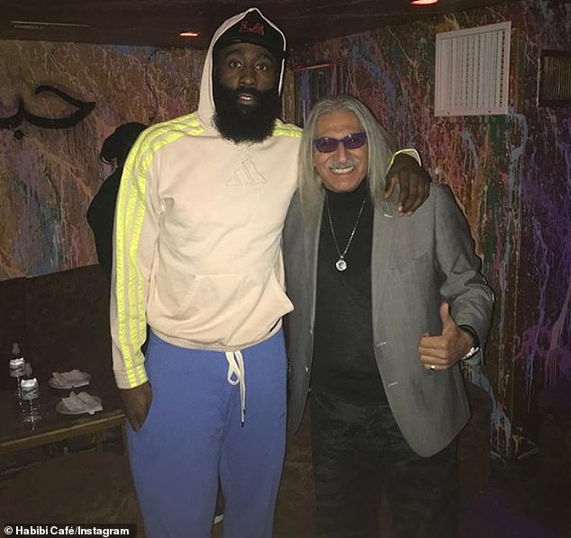 James Harden has also spent time at Habibi Cafe in LA, whose owner Saad Fakher fears a flavored tobacco ban