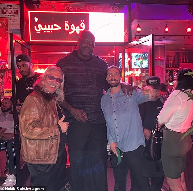 Shaquille O'Neal pictured at Habibi Cafe,the first ever hookah lounge in LA and a popular celebrity hang-out in Westwood