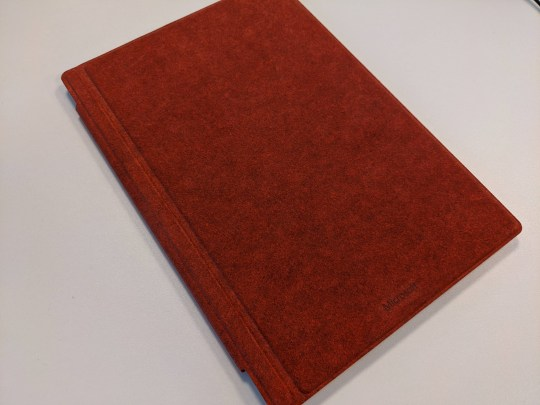 The Type Cover is sold separately and is made from soft-touch alcantara fabric (Metro)