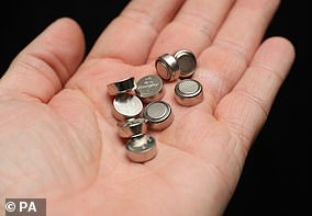 Button batteries trigger a chemical reaction when they come into contact with wet flesh