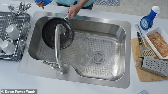 Dawn says people are washing dishes as they use them rather than waiting until the end of a meal and doing them in one go