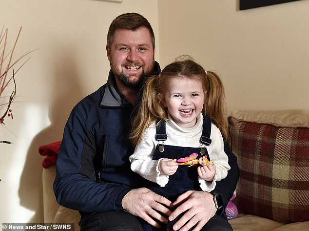 Mr Louden said: 'Ayda has taken to Orkambi well and has had no negative side effects so far'