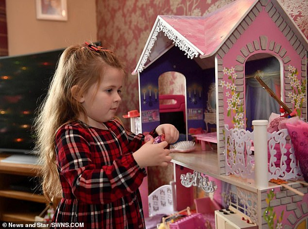 Ayda's parents say the treatment arrived just in time because cystic fibrosis patients are at the highest risk of infection over winter