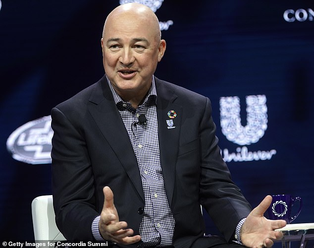 Excuses: Unilever chief exec Alan Jope has missed the sales growth target of 3 per cent to 5 per cent for the final quarter of this year stretching into the first half of 2020