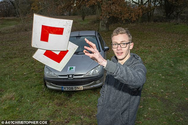 Tricked:Harrison Walne used Book Your Driving Test Online, one of a number of fee-charging sites which prey on drivers