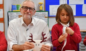 Jeremy Corbyn at Sandylands Community primary school. 'Labour has a huge number of proposals to increase current spending.'