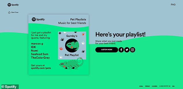 Spotify wants to help curate music for you and your favorite animal by using an algorithm to make playlists based on personality and species