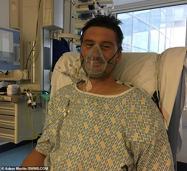 Adam Martin, 41, developed a deadly infection just days after using various household objects to try and dislodge a piece of popcorn from his teeth
