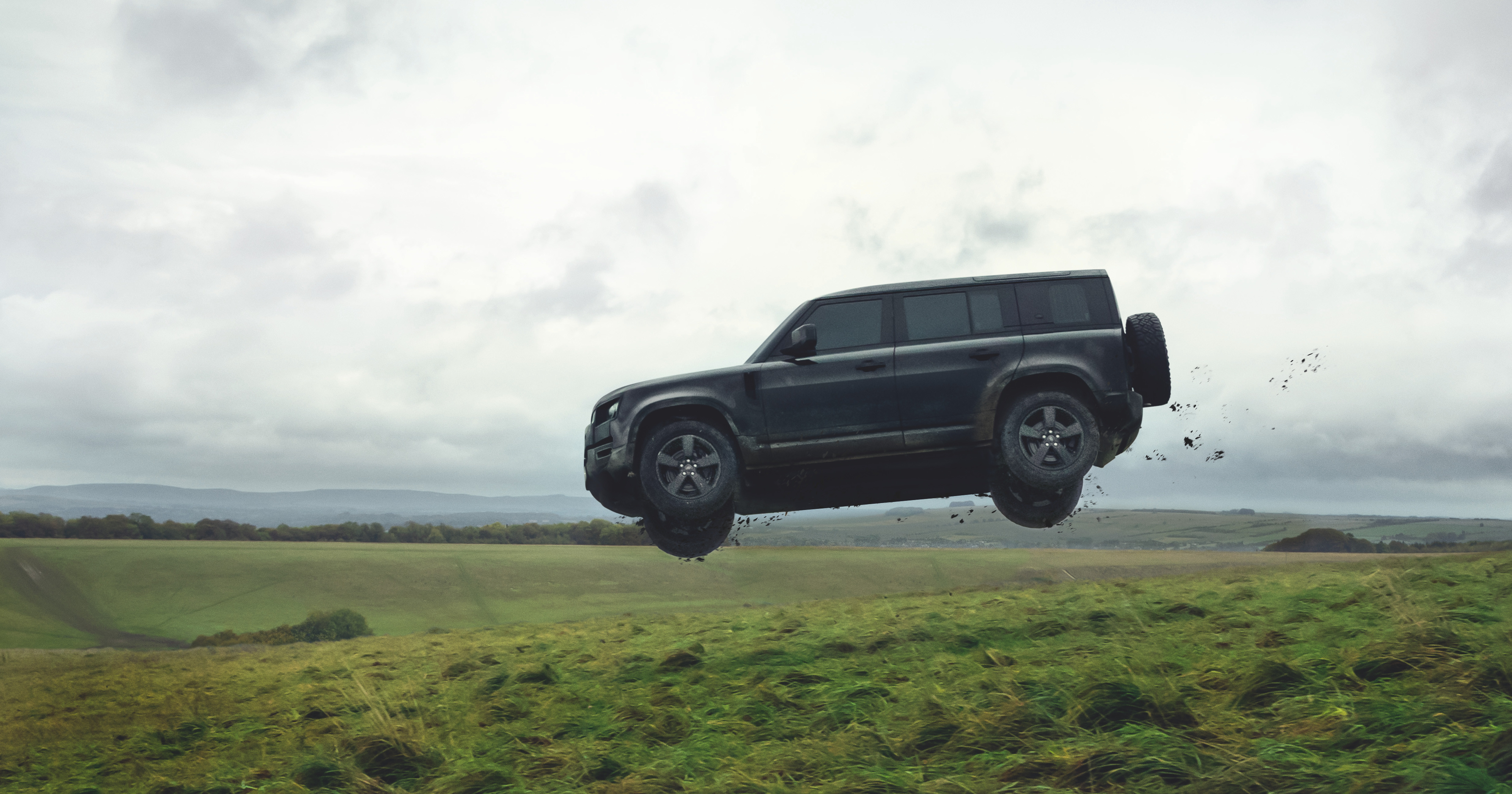 Professional stunt drivers push the Defender to the limit in the upcoming James Bond film