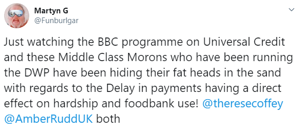 Viewers vented their outrage at the effect Universal Credit was having on some people featured in the documentary