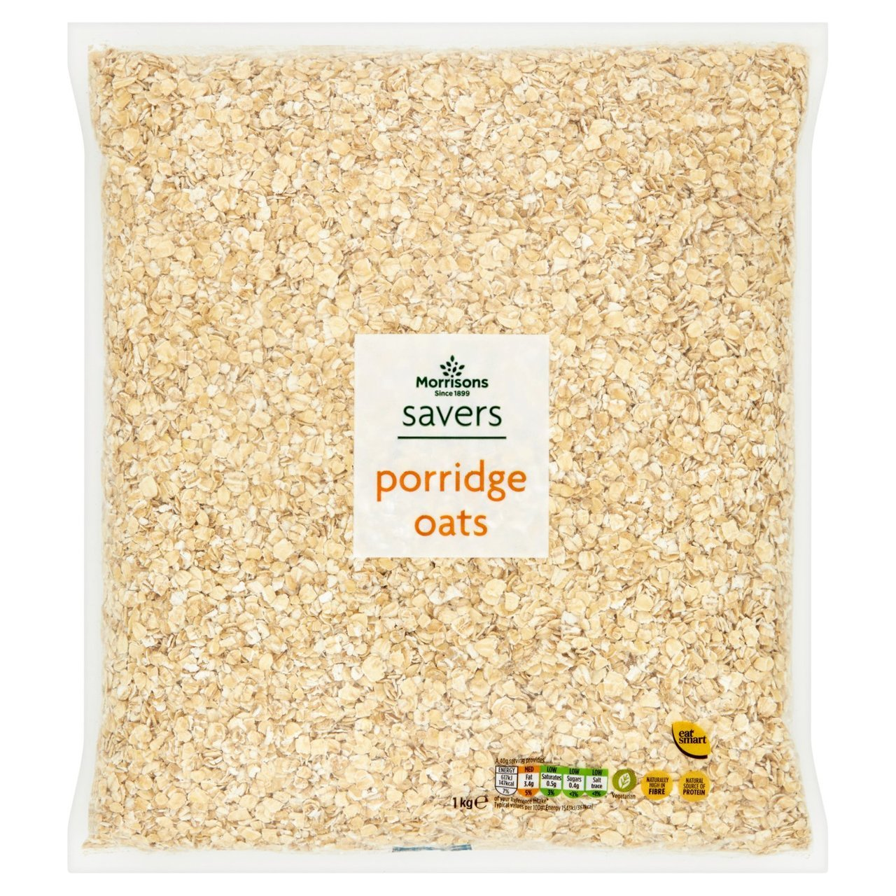 But a 1kg bag of porridge oats from Morrisons is just 75p