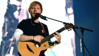 Ed Sheeran performs on stage at Sziget Festival on August 7, 2019.