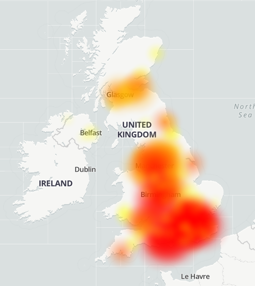 Thousands of Virgin Media users are reporting issues with their service