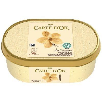This delicious Carte D'Or Vanilla ice cream is £3.50...