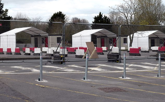 Pictured: The quiet and empty testing site today at Chessington World of Adventures in south-west London this morning