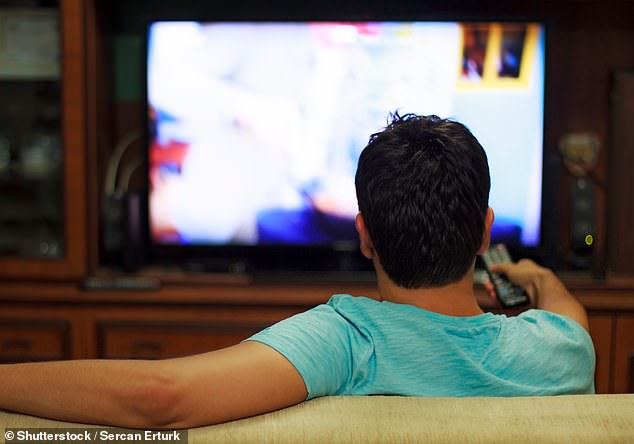 Men who are 'couch potatoes' — those spending a lot of time watching TV — are more likely to want to be muscular and hit the gym, a study has found
