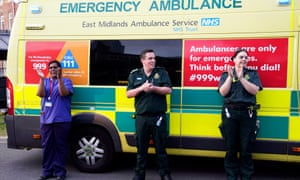 Members of Leicester's emergency services applaud during the Clap for our Carers campaign at the Leicester Royal Infirmary