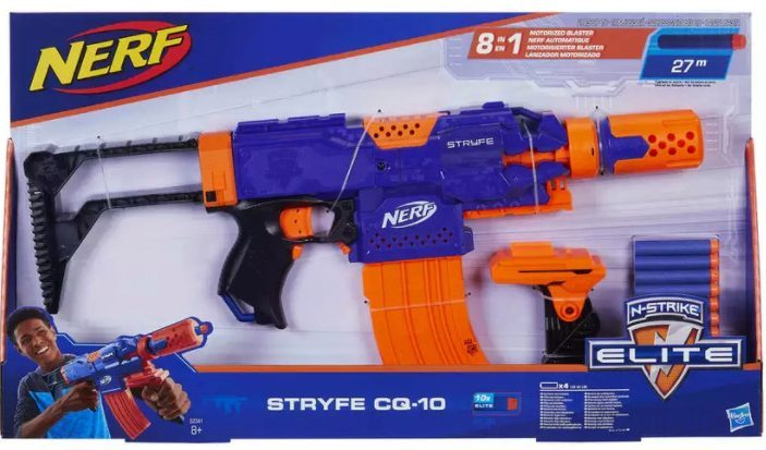 Treat your kids with this Nerf Elite Stryfe Blaster which is only £19.25 at argos.co.uk