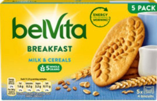 Belvita breakfast biscuits are £1, down from £1.85, at groceries.asda.com