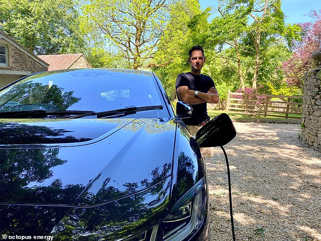 Jack from Bath said he was paid £1.43 to over the weekend to charge up his Jaguar I-Pace pictured