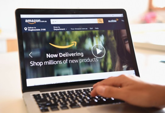 DANDENONG, AUSTRALIA - DECEMBER 05: The Amazon website is seen on December 5, 2017 in Dandenong, Australia. Amazon has ended months of speculation by launching its local website overnight. The online retail giant has started taking orders and shipping products from its 'fulfilment centre' in Dandenong South, offering massive discounts on millions of items across more than 20 categories including electronics, toys, clothing, beauty and accessories. (Photo by Quinn Rooney/Getty Images)