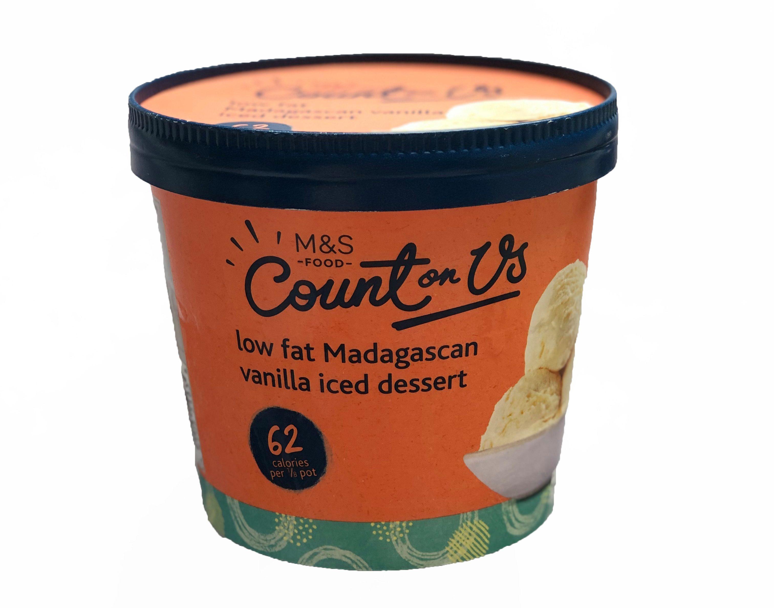 Find this low-fat Madagascan vanilla ice cream at M&S