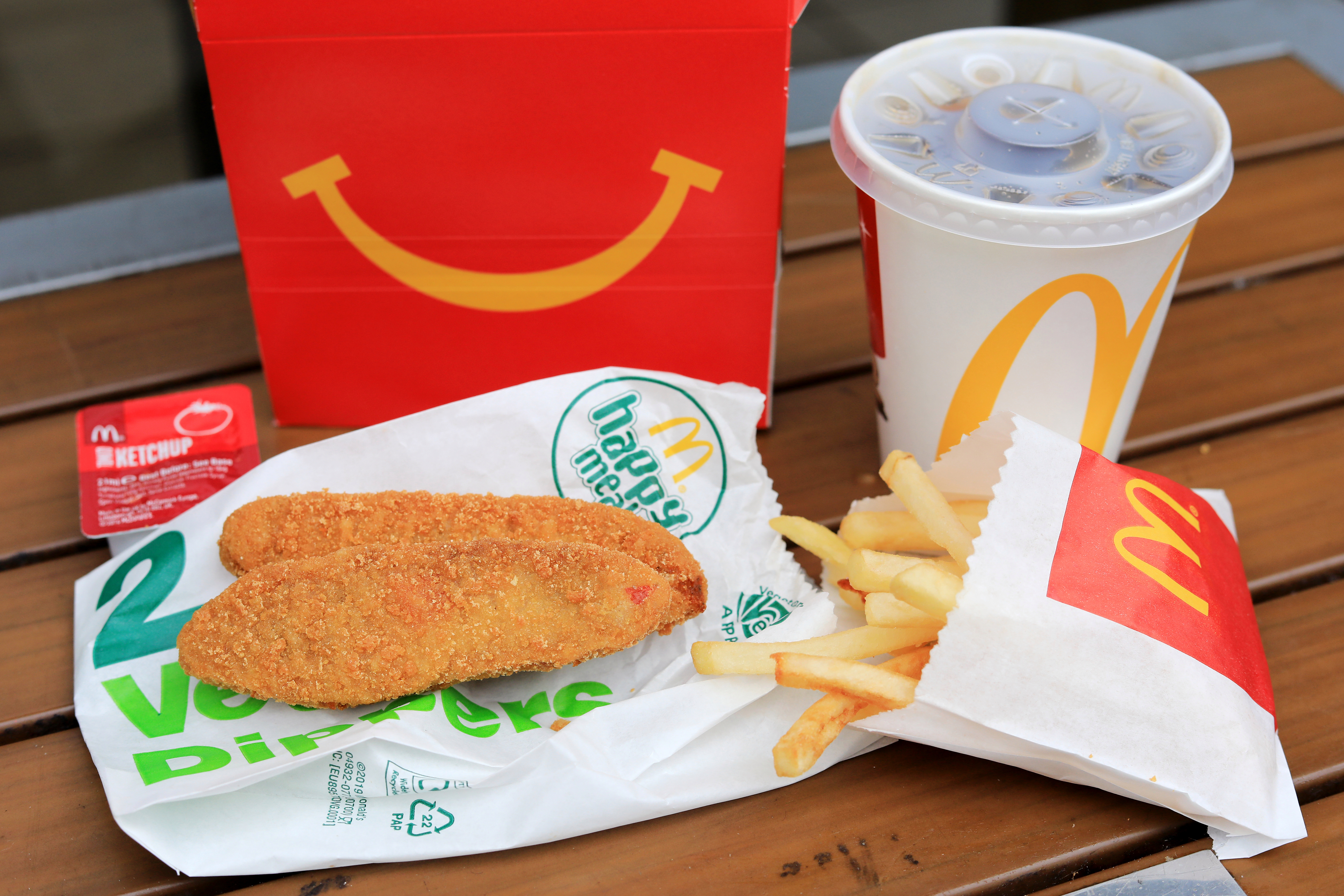 McDonald's has added two vegetarian options to its limited lockdown menu after a backlash — including the Veggie Dippers