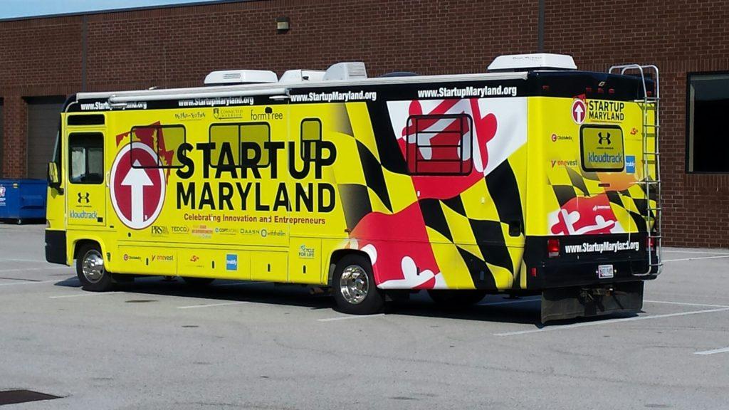 The Startup Maryland bus. (Photo via Startup Maryland)