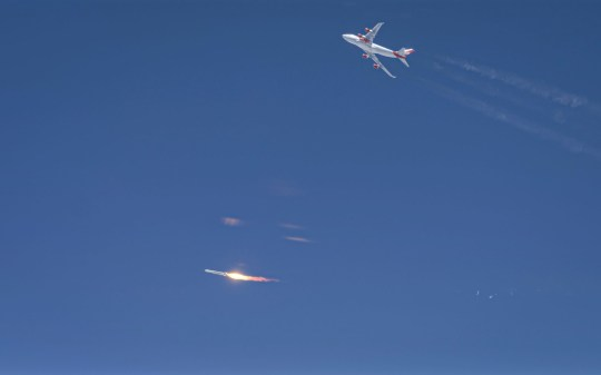 Virgin Orbit attempted to launch a rocket to space from beneath a modified 747 jet airliner (Virgin Orbit)