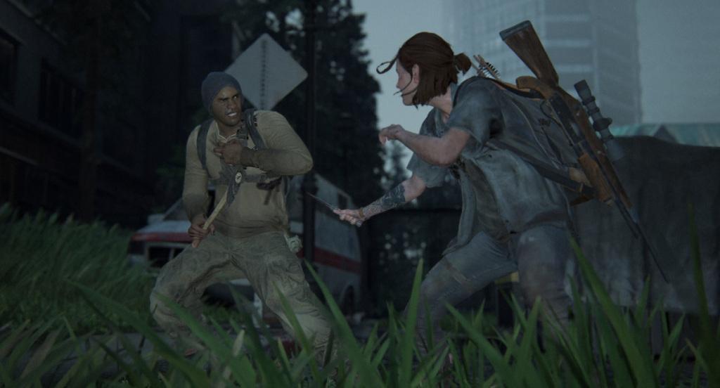 Hand-to-hand combat in The Last of Us Part II.