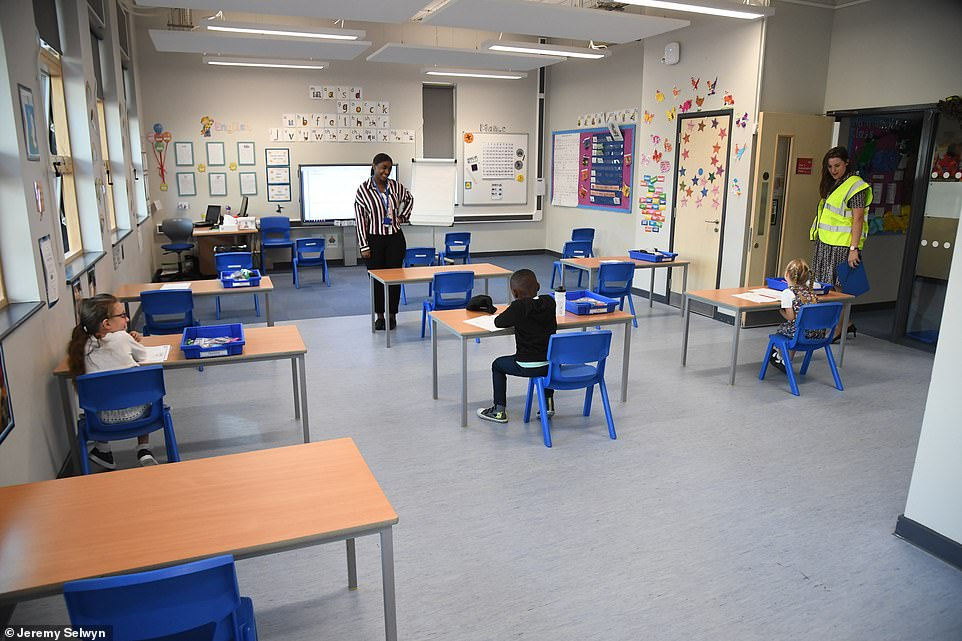 Children in Year 1 have their own desks in the modernHarris Academy Primary School in south London. Many headteachers with older schools say they don't have the space