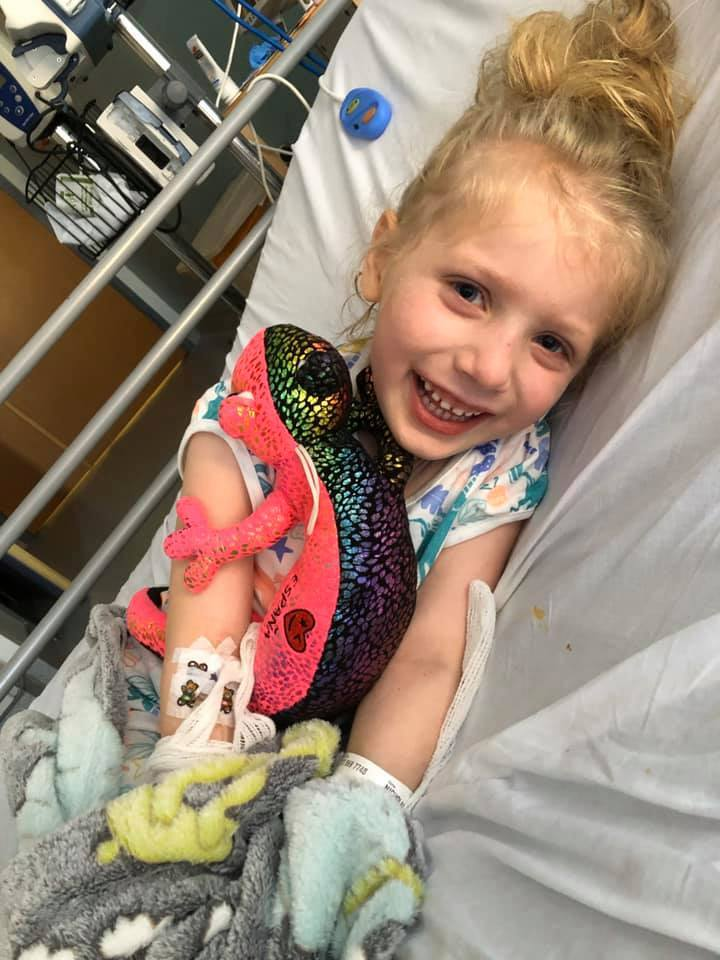 Scarlett had to be hooked up to a ventilator as she battled for her life