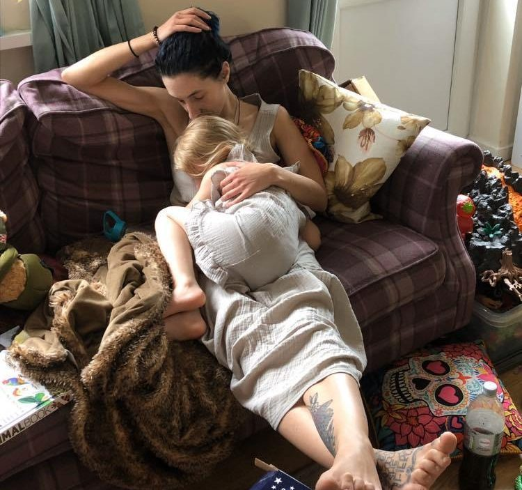 Scarlett is now back home with her mum and step-dad and on the road to recovery