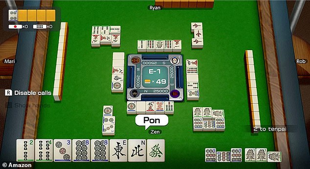 Riichi Mahjong is a Japanese tabletop game which can be played by up to four players