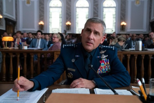 SPACE FORCE (L TO R) STEVE CARELL as GENERAL MARK R. NAIRD in episode 103 of SPACE FORCE Cr. AARON EPSTEIN/NETFLIX ? 2020