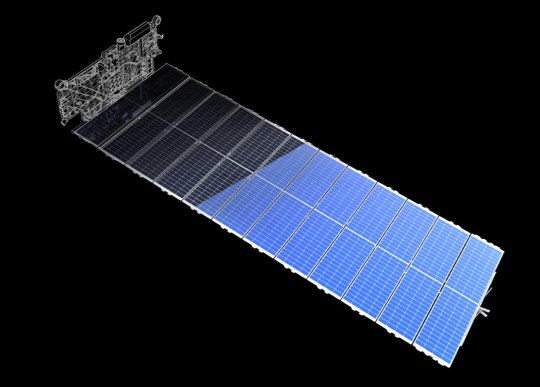 The satellites draw their power from the sun (Picture: Starlink)