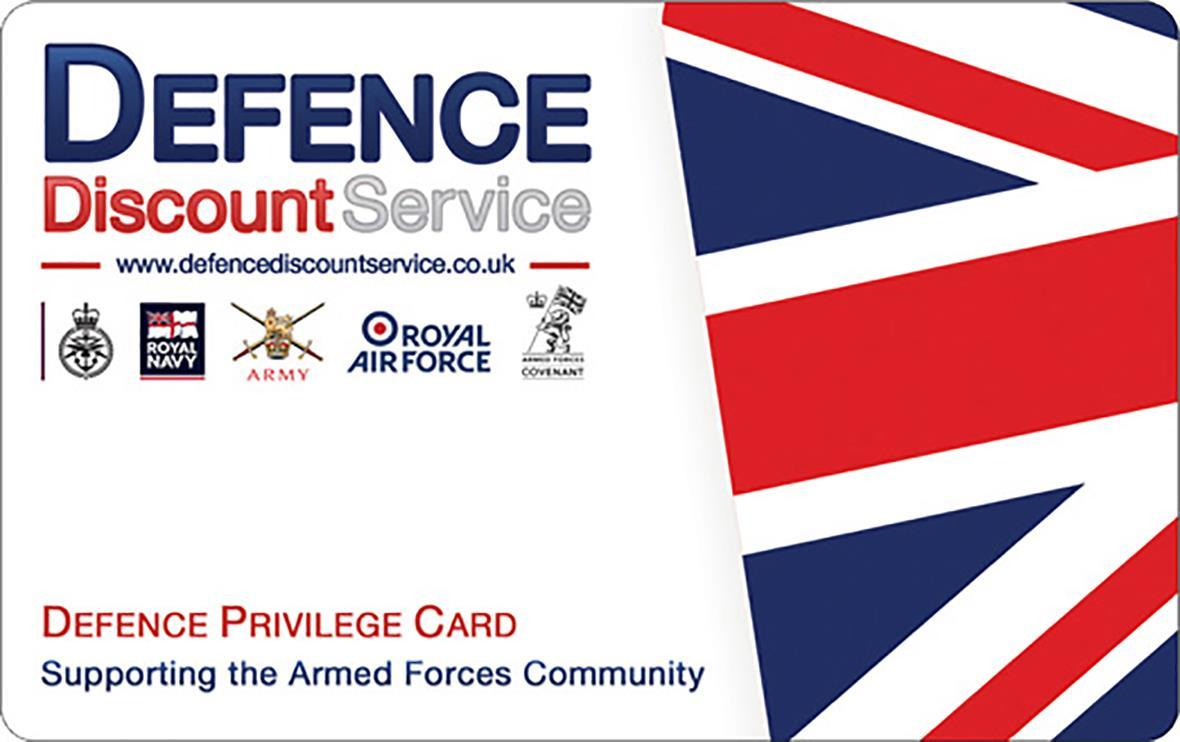 If you're in the military, get a Defence Discount Card to get money off at many stores
