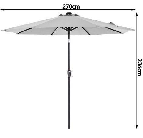 Garden sun parasol with 24 LED lights, £74.95, ManoMano