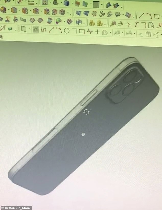 Alleged 3D render of the iPhone 12 and its notable flat edge - a feature last seen with the iPhone 5