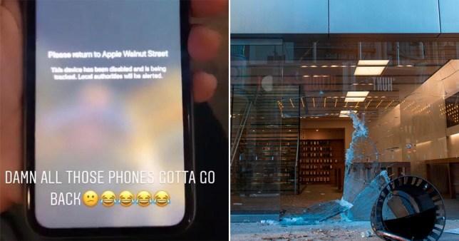 Apple can track stolen iPhones (Twitter)