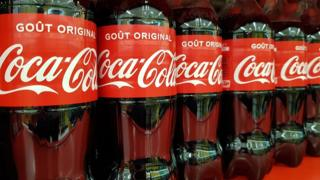 Coca-Cola bottles on sale at a supermarket in Nice, France (20 January 2020)
