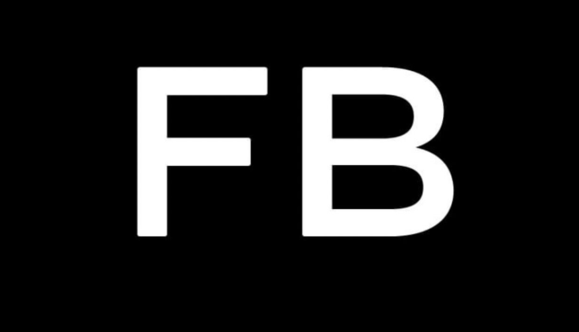 Facebook has switched its logo to black (Facebook)