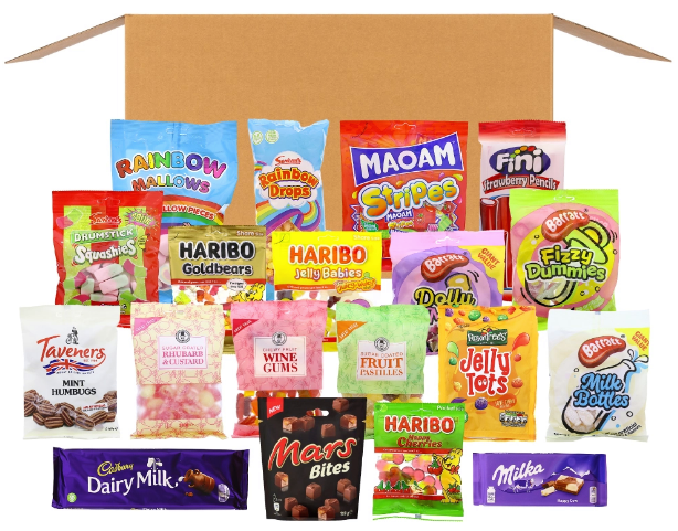 There are 19 sweets and chocolates on offer with the box