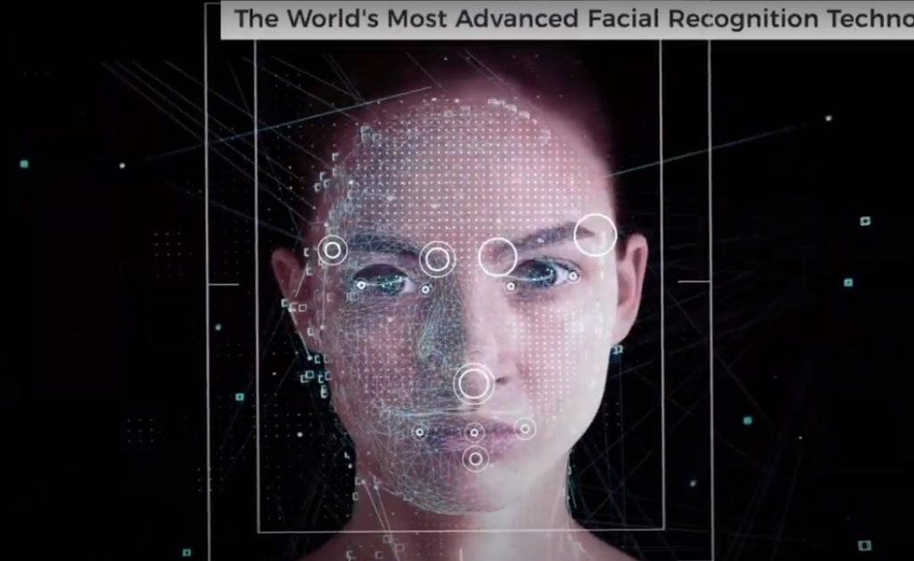 Corsight AI's system can perform facial recognition even when faces are concealed by masks and other protective gear. Screenshot
