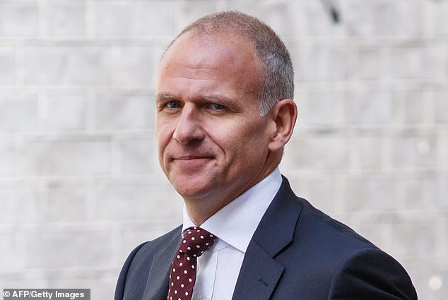 Parting shot:Dave Lewis was dubbed 'the bloke who saved Tesco' after he turned around Britain's biggest supermarket