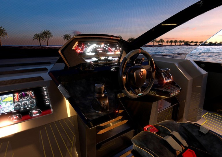 Lamborghini builds a 4,000 horsepower luxury yacht https://media.lamborghini.com/english Picture: Lamborghini